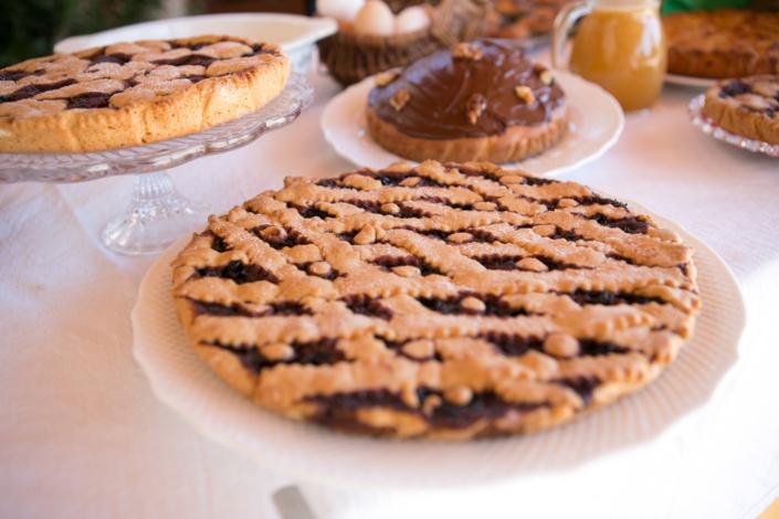 Crostata e dolci vari Agriturismo Regno di Marzagaglia