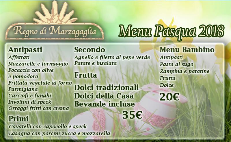 Menu di Pasqua 2018 all'Agriturismo Regno di Marzagaglia a Gioia del Colle